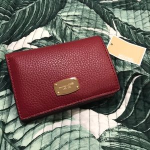 NWT Michael Kors Red Bifold Wallet